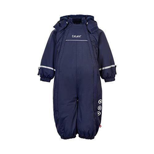 CeLaVi Schneeanzug Schneeoverall Jungen dunkelblau Navy Uni (98, dunkelblau)