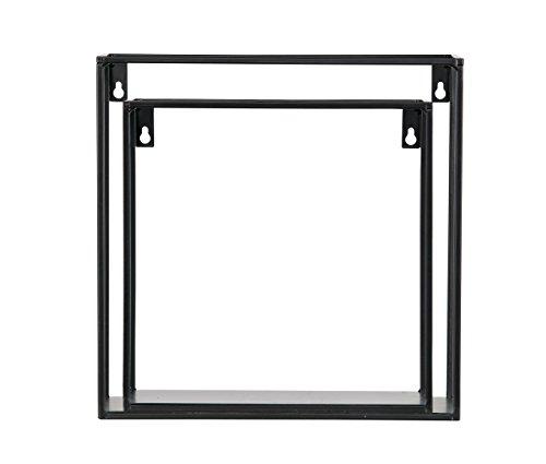 Woood Wandregal Regal MEERT Cubes Kubus 2er Set Ablage Wohndekoration Metall schwarz (inklusive aktueller Wohnzeitschrift)