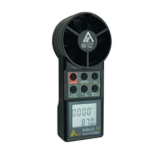Vobajf Anemómetro digital de mano y anemómetro multifuncional para el clima, anemómetro portátil (color: negro, tamaño: 18,3 x 7,6 x 4,5 cm)