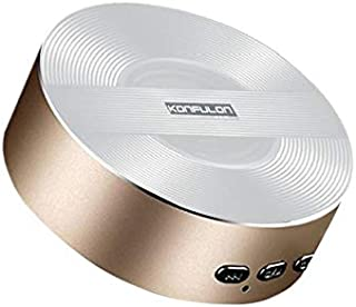 Konfulon wireless speaker K3 mini size Bluetooth V4.0 fashion design - White/Gold