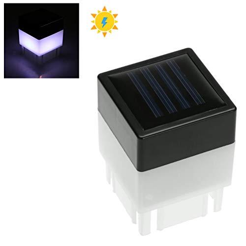Sahgsa Solarbetriebene Zaunbeleuchtung, wasserdichte Solar-Lichter LED Solarzaun-Lampe für Gartenlampe Boundary Pool Garden Decor