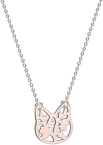 banbeitaotao Collar Encantador Collar con Colgante de Gato para Mujer Lindo Amor Animal León Brach pájaro Fénix bebé niñas Regalo de cumpleaños Collares