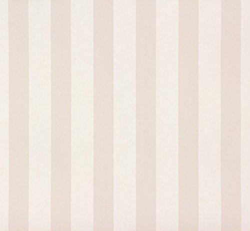 Rasch Tapeten Papiertapete (kindgerecht) Beige Creme 10,05 m x 0,53 m Bambino XVIII 246001 Tapete
