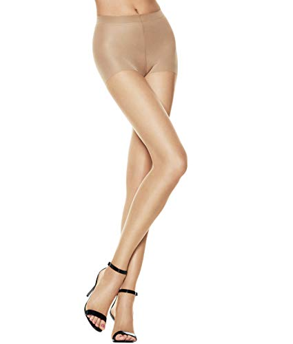 Hanes Silk Reflections Women's Lasting Sheer Control Top Toeless Pantyhose, Bisque, A/B