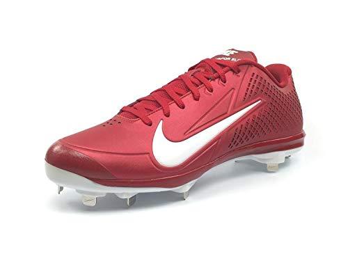 Nike Air Men's Zoom Vapor Elite Baseball Metal Cleats, Red/White, 11.5 M US
