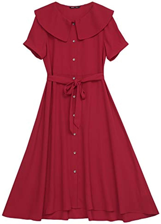 Woman Dress Women's Summer Dress Waist Long Dress