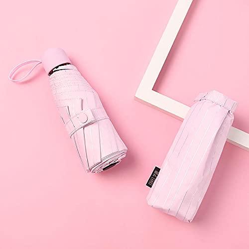 UltraLate 50% Rabatt auf Capsule-Regenschirm-Streifen 8 Knochen schwarzer Kunststoff-Regenschirm Werbe-Regenschirme-Logo Custom Outdoor-Regenschirm-Rosa_Durchmesser 95 cm.