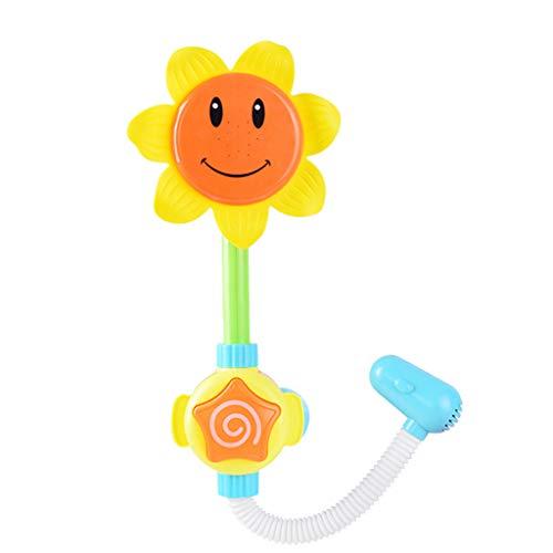 LvSenLin Juguetes De Baño De Girasol para Niños, Juguete De Agua De Bienvenida Ecológico De Seguridad Lindo, Juguetes De Juego De Agua para Bañera para Bebés Y Bebés
