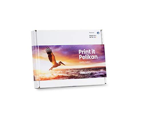 Pelikan Pack de 4 Cartuchos de Tinta reemplazo para Epson T0715 Negro/Cian/Magenta/Amarillo Delgado