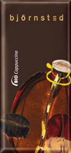 Björnsted Bio Cappuccino Schokolade, cremige weisse Chocolade und Vollmilch Chocolade, verfeinert mit bestem Espresso-Kaffee, 100g - Bremer Gewürzhandel