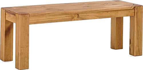 Brasilmöbel Sitzbank 120 cm Rio Kanto Brasil Pinie Massivholz Esszimmerbank Küchenbank Holzbank - Größe und Farbe wählbar
