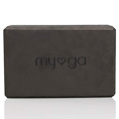 Myga Foam Block (Black) Bloque de Espuma para Yoga (Negro), Unisex, 10812 cm
