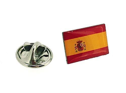 Gemelolandia | Pin de Solapa Bandera España Version III | Pines Originales y Baratos Para Regalar | Para las Camisas  la Ropa o para tu Mochila | Detalles Divertidos