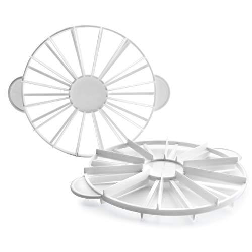 LACOR Cortador Reposteria-Marcador de Tarta, Corta en porciones Iguales, Apto para el lavavajillas, 10-12 raciones, 27 cm