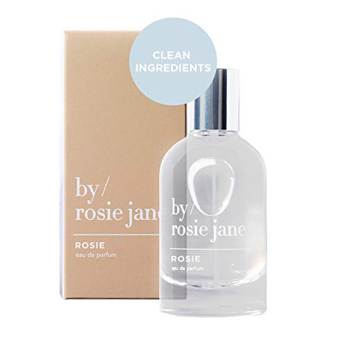 By Rosie Jane Eau De Parfum Spray (Rosie) - Clean Fragrance for Women - Essential Oil Mist with Notes of Sheer Musk, Vanilla, Sweet Rose - Paraben Free, Vegan, Cruelty Free, Phthalate Free (50ml)