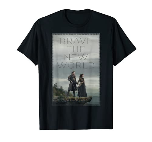 Outlander Brave The New World Jamie and Claire Poster T-Shirt