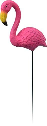 PROGARDEN Rose Flamant Rose Vase Pot de Fleurs en Plastique Bâton de Bordure de Jardin Ornement Décoration Decor Simple