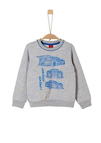 s.Oliver RED Label Jungen Sweatshirt mit Auto-Motiv Light Grey Melange 128/134.Slim