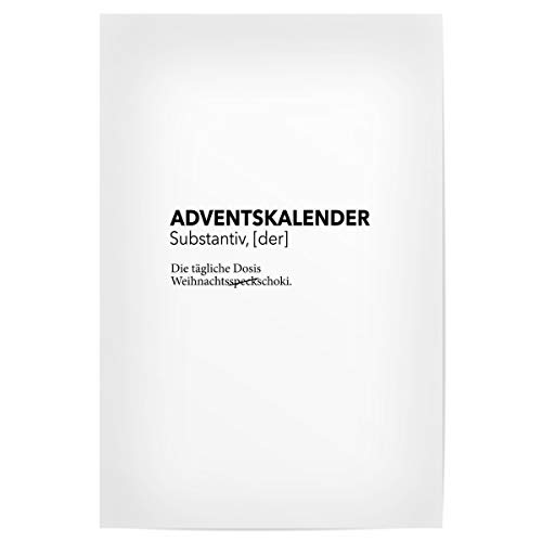artboxONE Poster 75x50 cm Typografie Adventskalender 5