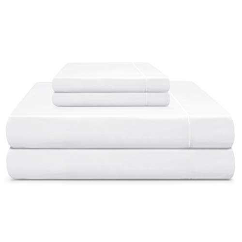 Cooling Planet King 610 TC Sheet Set Extra-Long Staple Sateen Weave 100% Pima Cotton 18' Deep Pocket Luxury Bedding from (4 Pcs, Snow White)