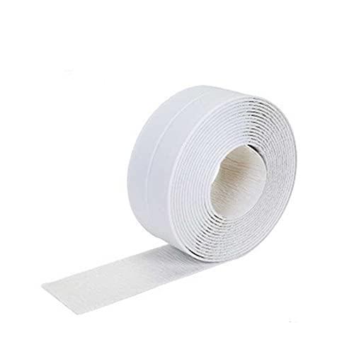 GXSLT Reutilizable 3,2 Metros Baño Ducha Baño Bañera de baño Strip Cinta Blanco PVC Autoadhesivo Etiqueta de Pared a Prueba de Agua para baño Cocina Gel Fuerte (Color : White, Width : 22mm)