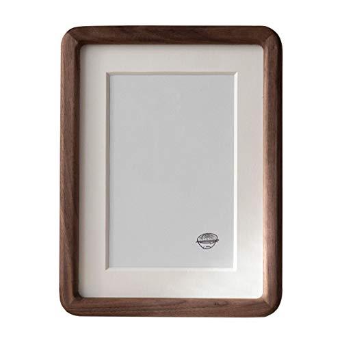 zunruishop Blat ekspozycyjny ciemny orzech drewniany blat rama rama rustykalna artystyczna ramka na zdjęcia do pionowego lub poziomego blatu stojącego 4 × 6, brązowe ramki na zdjęcia (rozmiar: 20 × 25 cm)