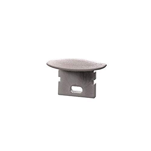 reprofil Accessoires pour profil LED F Lot de 2 et de 02–05 Embout, gris 978691