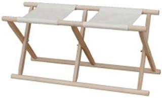 胡床のトップメーカー鈴木木工所製 2人掛胡床白木白布 神社や和室の高齢化対応椅子