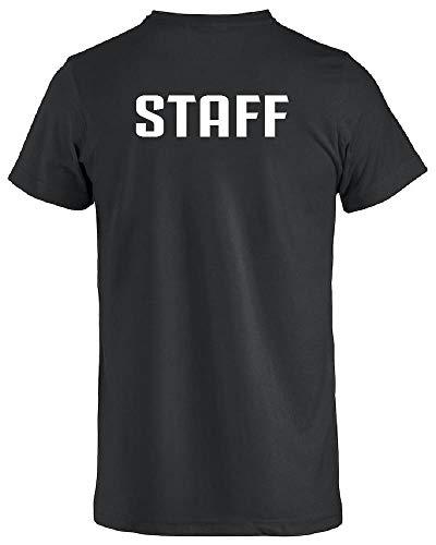 BrolloGroup Maglietta T-Shirt Staff Oppure Personalizzabile Come Vuoi PS 27431 Staff (Nero, S)