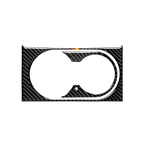 LHSM para Mercedes-Benz GLE W218 GLS ML X166 GL Accesorios Soporte De Taza De Agua Marco De Panel Carcasa De Fibra De Carbono Pegatinas Juego De Interiores Sticker Carro