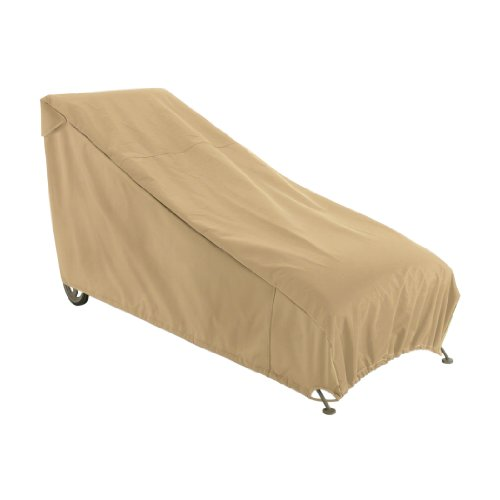 Classic Accessories Terrazzo Water-Resistant 65 Inch Patio Chaise Lounge Chair Cover