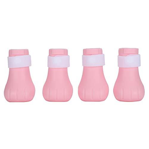 Bota de silicona para gatos, protector suave para patas de gato con botas protectoras para hospitales de mascotas Tiendas de mascotas para casas de gatos(Plastic box packaging (pink), LZP-25)