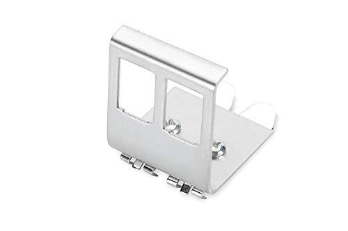 DIGITUS Hutschienen-Adapter Für Keystone-Module - 2 Port - 45° Gewinkelt - Edelstahl - Offenes Gehäuse