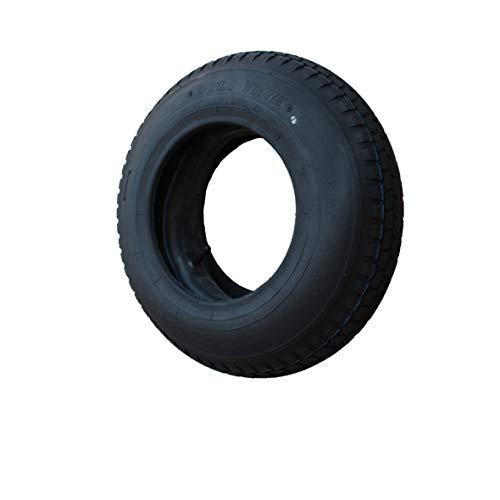 Set Reifen+Schlauch 400x100 4.80/4.00-8 Stollen Profil PR4-Lagen Tragfähigkeit 305 kg