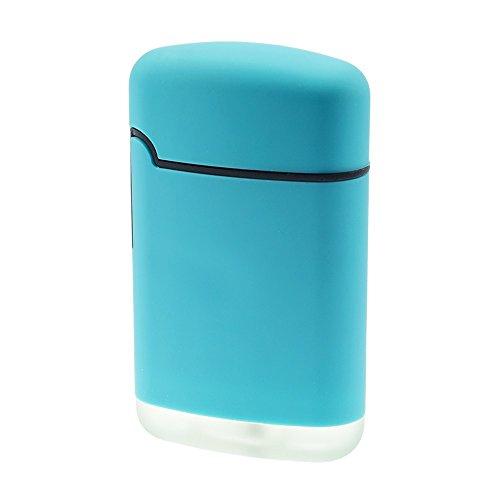 SMOKERTOOLS Easy Torch 8 Rubber Sturmfeuerzeug in 5 Farben sortiert, Farbe Easy Torch Matt:Hellblau Matt Hellblau Matt