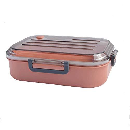 Fiambrera de comida, Contenedores de almacenamiento con tapas, Plástico, Perfecto para reuniones de familiares y amigos también como un contenedor de viaje, Rosa
