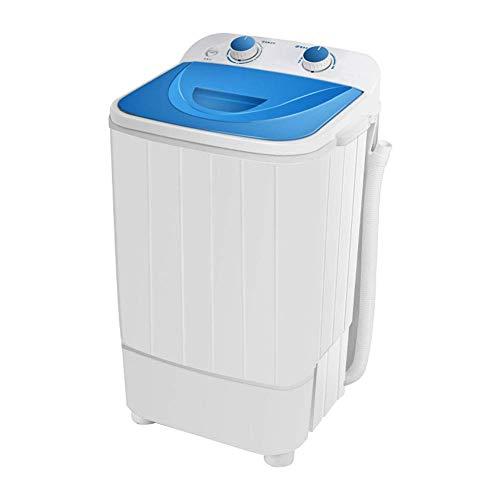 YLCJ Lavadora pequeña Semiautomática para Uso doméstico Lavadora de Zapatos Mini deshidratación de un Solo Barril Adecuado para Apartamentos, Dormitorio de Estudiantes, Azul