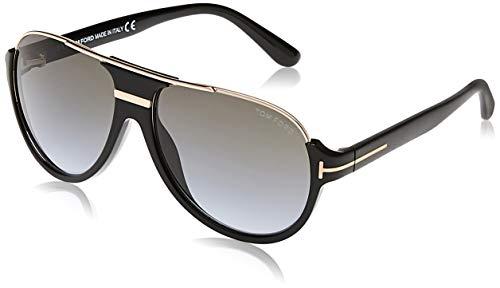 Tom Ford 0334S 01P Black/Gold Dimitry Pilot Sunglasses Lens Category 3 Lens M
