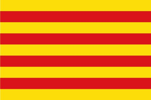 Michael & Rene Pflüger Barmstedt 8,4 x 5,4 cm Autoaufkleber Fahne von Katalonien Catalunya Cataluna Sticker Aufkleber fürs Auto Motorrad Handy Laptop