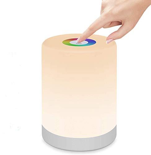 StillCool Lámpara de Noche Inteligente, Luz de Mesa Regulable con RGB Luz, Mango y Modo SOS para Dormitorio Oficina Sala de Estar y Acampada - Clase de Eficiencia Energética: A+