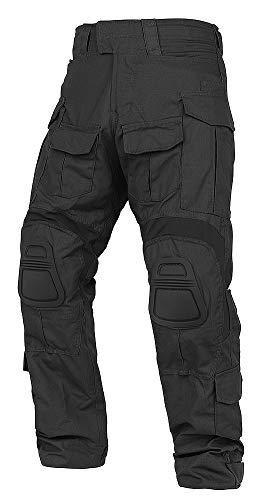 KRYDEX Tactical Men's G3 Combat Pants with Knee Pads (Black,...
