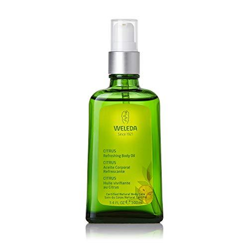 WELEDA Citrus Erfrischendes Pflege-Öl, belebendes und erfrischendes Naturkosmetik Körperöl zur Pflege und zum Schutz vor trockener Haut, Citrus Bodyöl mit frischem...