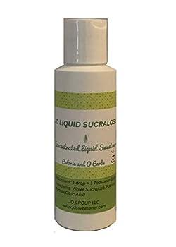 JD Liquid Sucralose  4 fl oz  Concentrated Liquid Sweetener