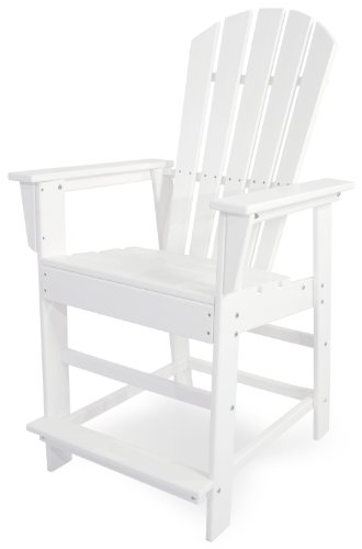 POLYWOOD SBD24WH South Beach Counter Chair White
