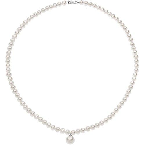 Collana Di Perle Con Diamante Di Comete Da Donna elegante cod. FWQ 265