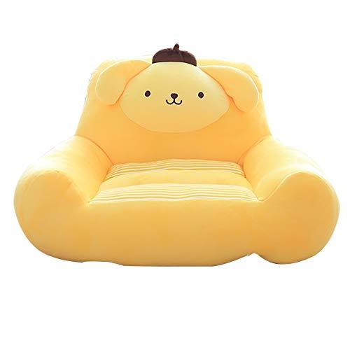 Animal Chaise De Bébé, Douillet Et Moelleux Canapé Garçon Fille Accoudoir Sofa Mini Pouf Poire 7 Couleurs (Color : Yellow)