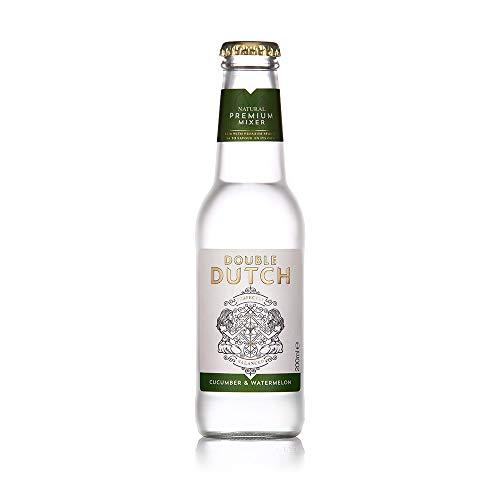 Double Dutch Tonic Water mit Gurken & Wassermelonenaroma |100% natürliche Zutaten | Mixer Cocktails | Ohne künstliche Farb, Konservierungs oder Geschmacksstoffe – 200 ml - 24 Pack