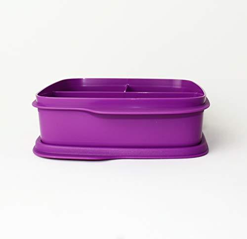 Tupperware® Clevere Pause in Lila! Eine große Brotdose mit Trennwand! + Kugelschreiber *Tolle Haushaltshelfer*