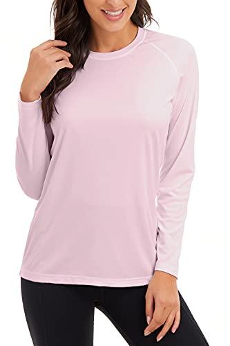 SMENG Sudadera de manga larga con capucha para mujer al aire libre con capucha y protección solar - rosa - XX-Large