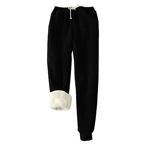 Pantalon de jogging en polaire chaude pour femme - Legging...